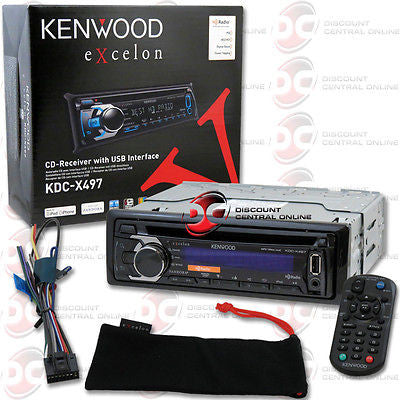 KENWOOD 1DIN KDC-X497 MP3 WMA CD STEREO WITH HD RADIO FRONT USB AUX-IN + REMOTE