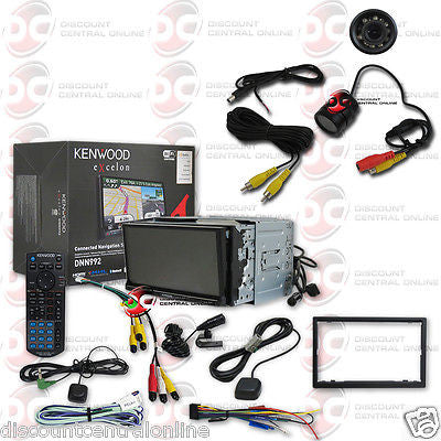 "KENWOOD DNN992 2DIN 6.95"" GPS DVD PLAYER BLUETOOTH WIFI DONGLE FREE REAR CAMERA"