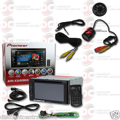"PIONEER AVH-X3600BHS 2-DIN 6.1"" TOUCHSCREEN CAR DVD STEREO FREE REARVIEW CAMERA"