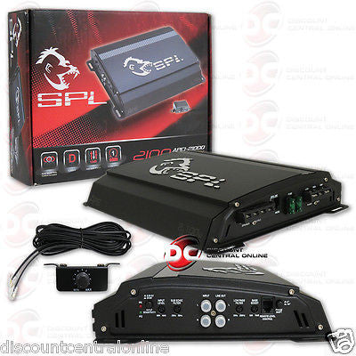 SPL APE1-2100D CAR AUDIO MONOBLOCK CLASS D 1-CHANNEL AMP AMPLIFIER 2100W MAX