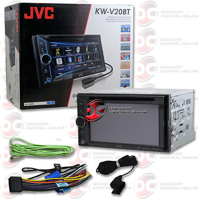 "2014 JVC DOUBLE DIN CAR 6.1"" DVD CD PLAYER USB AUX-IN BLUETOOTH IPHONE SUPPORT"