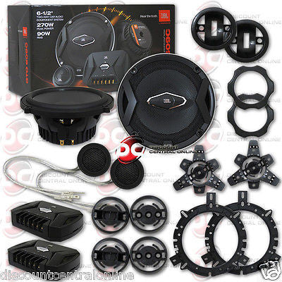 "2015 BRAND NEW JBL 6.5-INCH 6-1/2"" CAR AUDIO 2-WAY COMPONENT SPEAKER SYSTEM PAIR"
