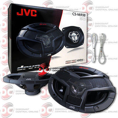 "BRAND NEW JVC 6x9-INCH 6x9"" CAR AUDIO 3-WAY SPEAKERS PAIR 800W MAX"
