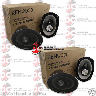 "2 x KENWOOD KFC-G6930 6 x 9"" 3-WAY CAR AUDIO SPEAKERS"