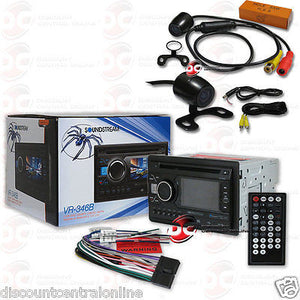 "SOUNDSTREAM VR-346B 2DIN DVD BLUETOOTH RADIO W/ 3.4"" LCD ""FREE"" 170° REAR CAMERA"