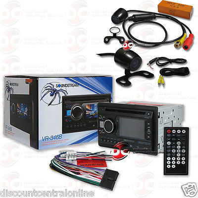 SOUNDSTREAM VR-346B 2DIN DVD BLUETOOTH RADIO W/ 3.4