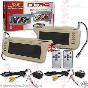"NITRO CAR 10.2"" TFT SUNVISOR MONITOR NTSC/ PAL WITH 9 MODES DISPLAY (TAN)"