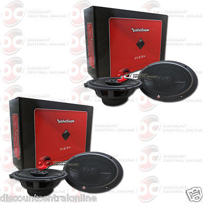 "4 x ROCKFORD FOSGATE P1694 6 x 9"" 4-WAY CAR AUDIO FULL RANGE SPEAKERS"