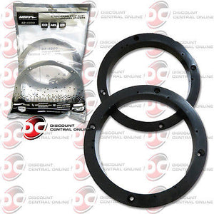 "Universal 1"" Plastic Spacer Rings for 5.25"" and 6.5"" Round Speakers"
