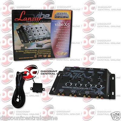 BRAND NEW LANZAR VIBEX5 3 WAY ELECTRONIC CROSSOVER NETWORK W/ REMOTE SUB CONTROL