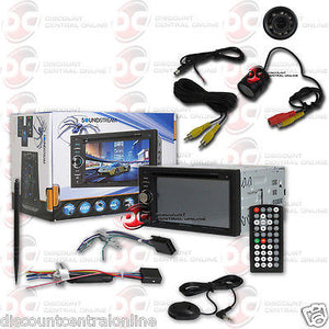 "SOUNDSTREAM VR-64H2B CAR 2-DIN 6.2"" CD DVD BLUETOOTH STEREO FREE REARVIEW CAMERA"
