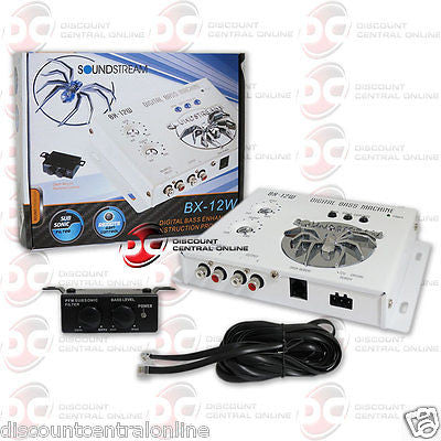 SOUNDSTREAM BX-12W CAR DIGITAL BASS PROCESSOR W/ BASS KNOB (WHITE)