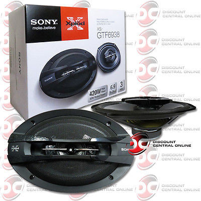 "BRAND NEW SONY 6x9-INCH 6x9"" 3-WAY CAR AUDIO COAXIAL SPEAKERS (PAIR)"