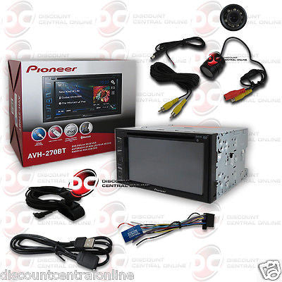 "PIONEER AVH-270BT 6.2"" TOUCHSCREEN DVD CD BLUETOOTH STEREO FREE REAR VIEW CAMERA"