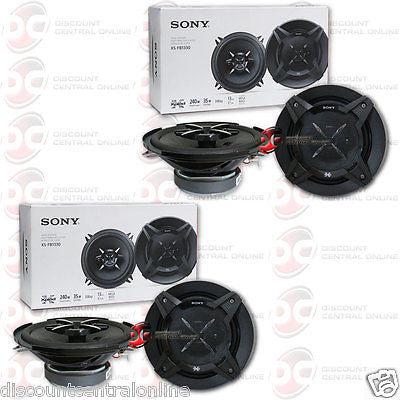 "4 x SONY XS-FB1330 5.25"" 3-WAY CAR AUDIO COAXIAL SPEAKERS"