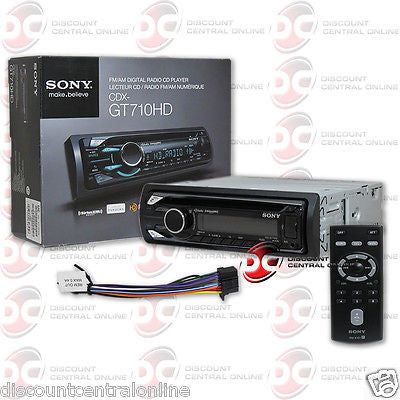 BRAND NEW SONY IN-DASH CAR HD RADIO MP3 CD PLAYER W/ FRONT USB & AUX-IN
