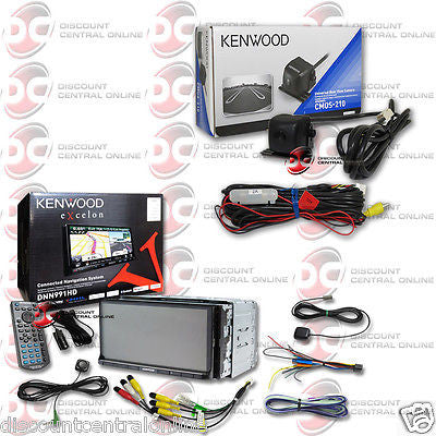 "KENWOOD DNN991HD 2DIN 6.95"" GPS DVD PLAYER WIFI DONGLE FREE CMOS-210 CAMERA"
