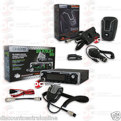 UNIDEN BEARCAT880 40 CHANNEL CB  RADIO PLUS EXTRA NOISE CANCELLING MICROPHONE