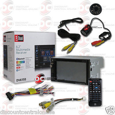 "DUAL DV615B CAR 2-DIN 6.2"" TOUCHSCREEN BLUETOOTH STEREO ""FREE"" REARVIEW CAMERA"