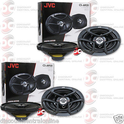 "4 x JVC CS-J6930 6"" x 9"" 3-WAY CAR AUDIO COAXIAL SPEAKERS 6 x 9 INCH 3 WAY"