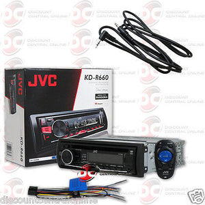 "JVC KD-R660 SINGLE DIN CAR AUDIO STEREO CD USB RECEIVER ""FREE"" 3.5mm AUX CABLE"