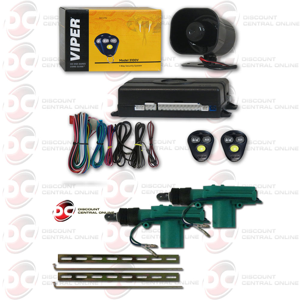 Viper Door Actuator Wiring Diy Enthusiasts Diagrams Diagram 3100 3100v 1 Way Car Alarm With Keyless Entry Plus Pair Of 2 Wire Rh Discountcentralonline Myshopify Com Power Blend