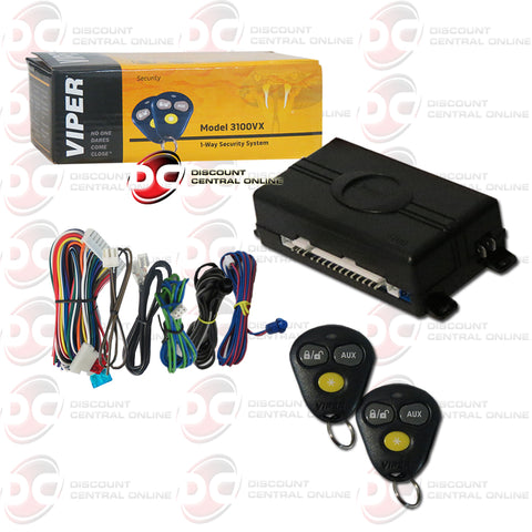 Viper 3100VX 1-Way Car Alarm System W/ Keyless Entry with Three Button Transmitter (No Horn)