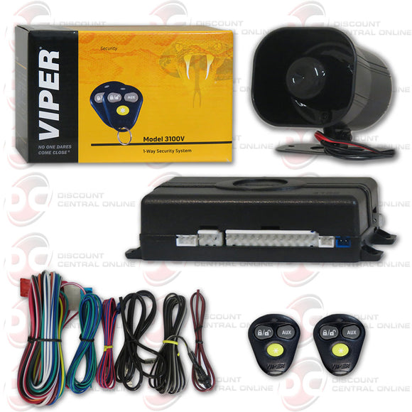 VIPER 3100V 1-WAY CAR ALARM SECURITY SYSTEM WITH KEYLESS ENTRY