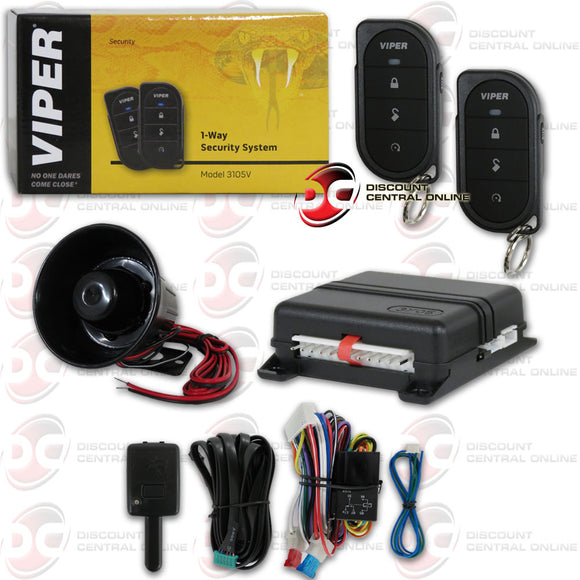 VIPER 350 PLUS 1-WAY CAR ALARM SECURITY SYSTEM WITH KEYLESS ENTRY 3105V