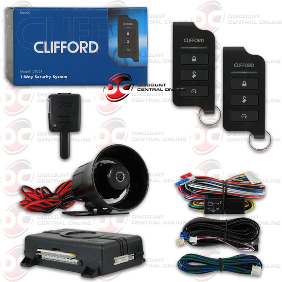 CLIFFORD MATRIX +1 3105X 1-WAY CAR ALARM SYSTEM WITH KEYLESS ENTRY & 2 REMOTES