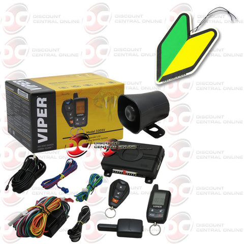 Viper Responder 3305V 2-way Car Alarm Vehicle Security System w/ Keyless Entry and LCD 2-way Remote Transmitter and JDM Air Freshener