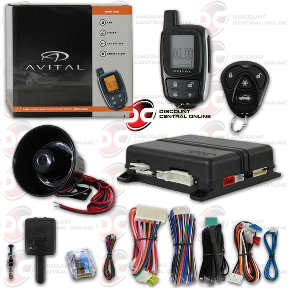 AVITAL 5305L 2-WAY PAGING KEYLESS ENTRY CAR ALARM SYSTEM WITH REMOTE START