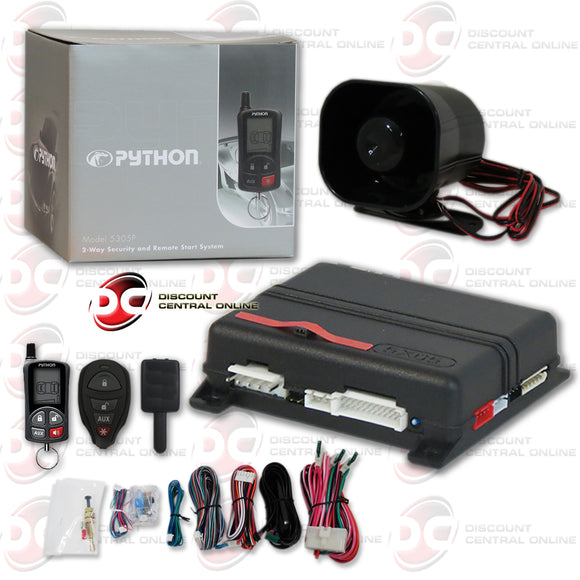 PYTHON 5305P 2 WAY KEYLESS ENTRY CAR SECURITY AND REMOTE START SYSTEM