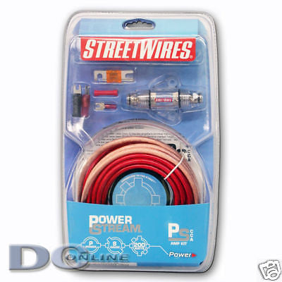 STREETWIRES PSKA8R CAR AUDIO SINGLE AMPLIFIER KIT 8 AWG