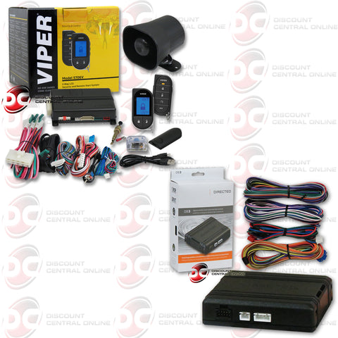 VIPER 5706V LC3 RESPONDER 2-WAY REMOTE START CAR ALARM PLUS DB3 DOOR LOCK MODULE