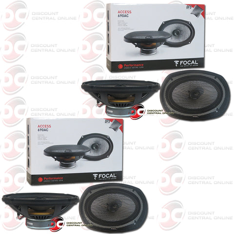 "2x Focal 690AC 6x9"" 2-Way Car Audio Coax Coaxial Speakers"