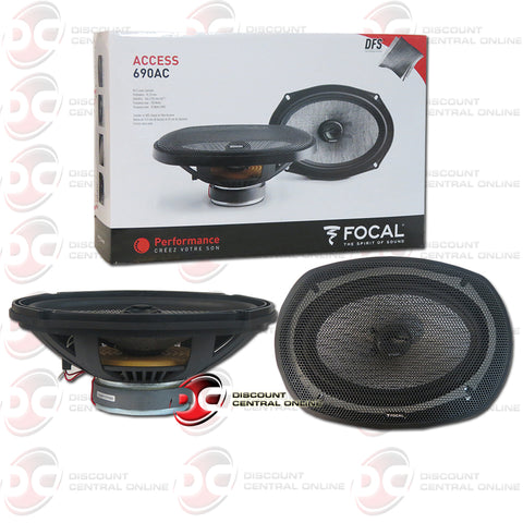 "Focal 690AC 6x9"" 2-Way Car Audio Coax Coaxial Speakers"