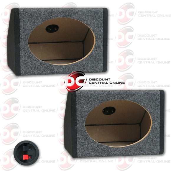 Two Angled Speaker Housing Boxes For 6x9 Speakers
