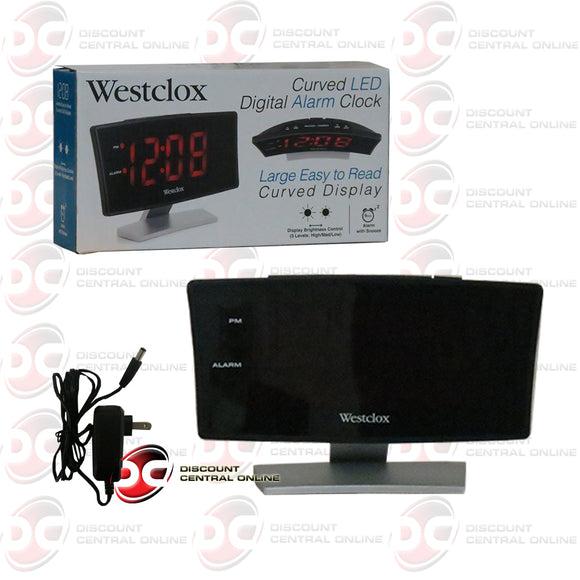 Westclox 71018 Curved LED Digital Alarm Clock
