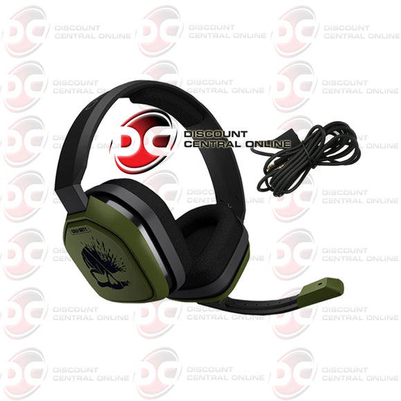 Logitech Astro Gaming A10 Call Of Duty Wired Stereo Gaming Refurbished Headset (Green/black)