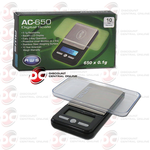 American Weight Scales AC-650 Digital Pocket Scale