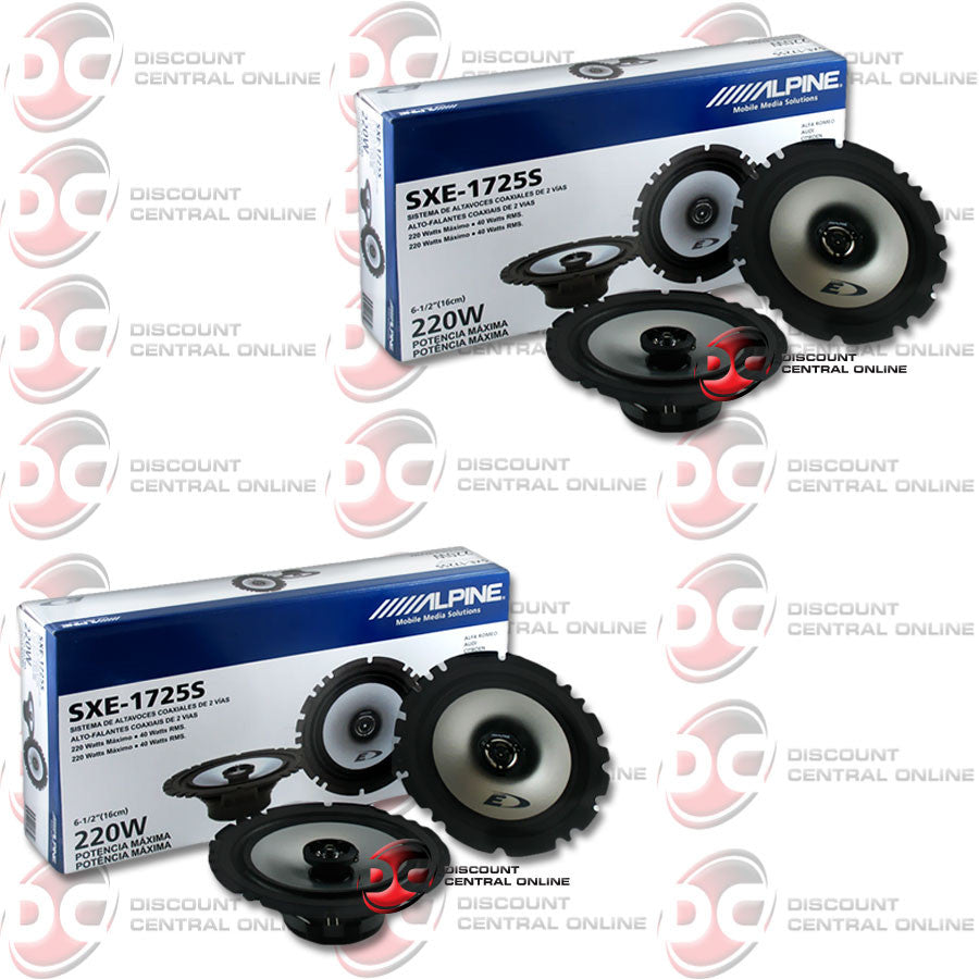 "4x Alpine SXE-1725S 6.5"" Car Audio Speakers"