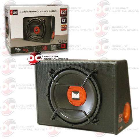 "DUAL ALB12 12"" 300W BUILT IN AMPLIFIED SUBWOOFER IN ENCLOSED BOX"