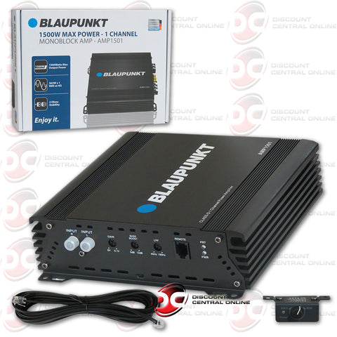 BLAUPUNKT AMP1501 1500W MAX POWER - 1 CHANNEL MONOBLOCK AMPLIFIER