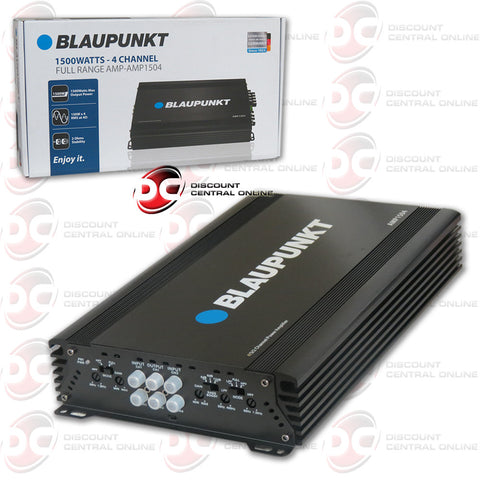 Blaupunkt AMP1504 Class AB 4-Channel Car Amplifier