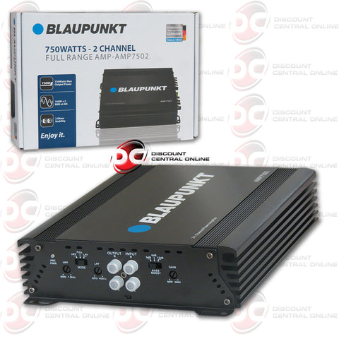 Blaupunkt AMP7502 750watt - 2-Channel Full Range Amplifier
