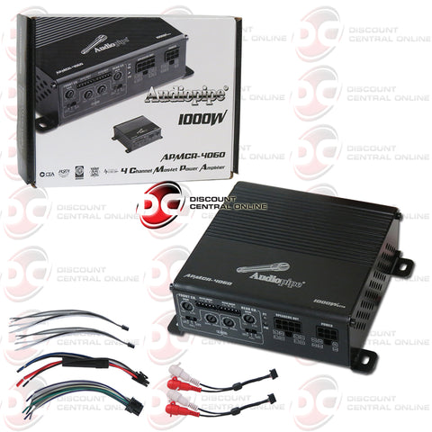 Audiopipe APMCR-4060 4-Channel Micro Car Audio Amplifier