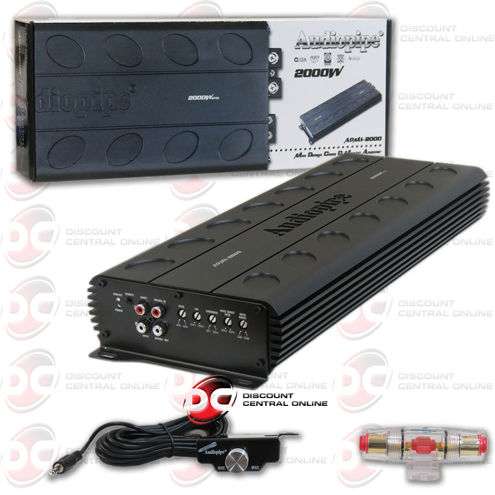 Audiopipe APMI-2000 1-Channel Mono Block Car Audio Amplifier