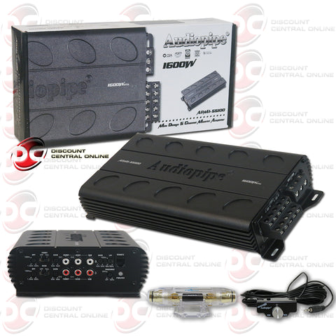 AUDIOPIPE APMI-55100 FIVE-CHANNEL CLASS AB COMPACTS CAR AUDIO AMPLIFIER