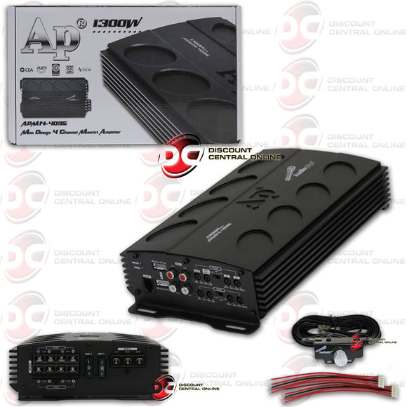 AUDIOPIPE APMN-4095 4-CHANNEL CLASS AB CAR MINI AMPLIFIER